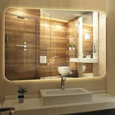 vanity led light mirror wall mirror anti fog vanity bathroom led lighted miror hanged yellow