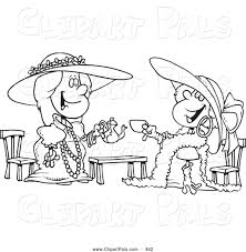 pal clipart of a black and white coloring page outline design of
