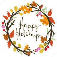 Happy Thanksgiving And Happy Holidays Autumn Happy Holidays Stock Vector Chadvivas 92522400