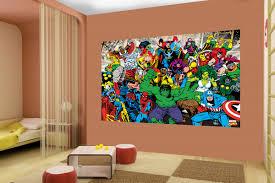 mural kids room interiors design marvel heroes wall mural wall murals ireland