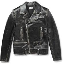 leather motorcycle jacket saint laurent distressed leather biker jacket men u0027s casual