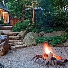 Rustic Firepit Outdoor Fireplaces Pits In Mclean Great Falls Va