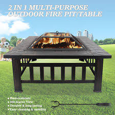 outdoor fire pit patio metal heater deck backyard fireplace cover