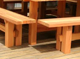 cedar garden furniture outdoor table bench online meeting rooms