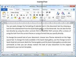 How To Do A Resume On Word 2010 Insert Text In Word 2010