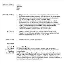Sample Modern Resume by Sample Modern Cv Template Free Samples Examples U0026 Format