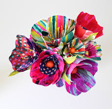 tie dye flowers tie dyed paper flowers flowers tutorials and craft