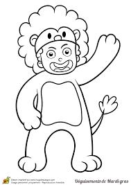 dessin d u0027un enfant déguisé en lion pour le mardi gras à colorier