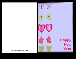 happy new year card free printable happy new year cards