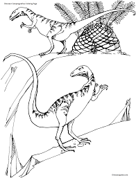 dinosaur compsognathus coloring page dinosaur coloring pages