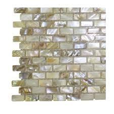 splashback tile baroque pearls mini brick pattern pearl glass