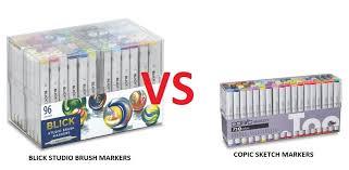 blick sketch markers vs copic sketch markers myt cr8tiv