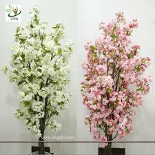 uvg chr089 artificial white cherry blossom trees small bonsai