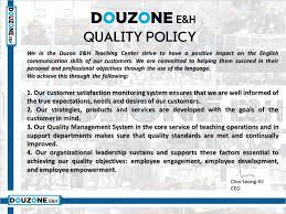 professional objectives iso9001 duzon u0027s quality policy u2013 i am douzone inglish co kr