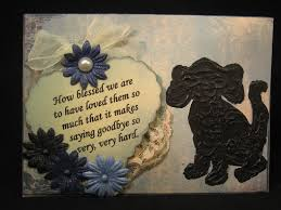 sympathy for loss of dog handmade pet sympathy card the rescue