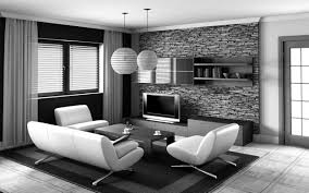 Black And White Interior Design Living Room Style Home Design - Interior design black and white living room
