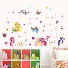 popular nursery decor butterfly buy cheap nursery decor butterfly diy cartoon my little pony baby girls love home decals wall sticker for kids room flora
