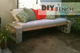 Outdoor Wooden Patio Furniture Diy Outdoor Bench In Less Than An Hour The Basement