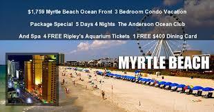 Myrtle Beach 3 Bedroom Condo 1759 Myrtle Beach 3 Bedroom Condo 5 Day Anderson Club