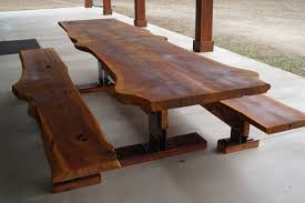 live edge outdoor table live edge cedar picnic table rezit designs