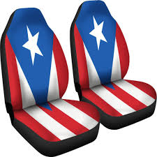 Cuban Flag Vs Puerto Rican Flag Puerto Rico Flag Design Royal Blue Car Seat Covers Boricua Products