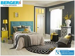 try yellow and grey paint in your bed room berger paints berger