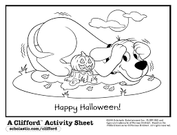 Barbie Halloween Coloring Pages Clifford Halloween Coloring Pages U2013 Festival Collections