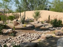 attractive desert landscape design along with low maintenance