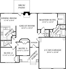 Craftsman Style House Floor Plans Craftsman Style House Plan 3 Beds 2 00 Baths 1387 Sq Ft Plan 453 64