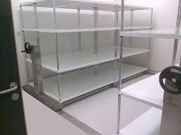 stainless steel mobile shelving