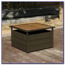 umbrella stand side table multi purpose patio umbrella stand and side table patios home