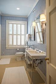white and blue kids bathroom transitional bathroom the wills
