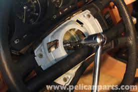 mercedes benz r107 steering wheel removal and replacement 1972