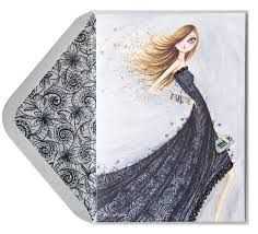 bella pilar fashion in black lace dress birthday cards