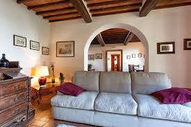 Two Twin Beds by Country House In Classic Tuscan Style In Cortona With Two Rooms