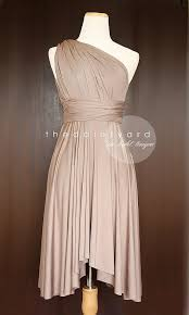 light taupe bridesmaid dress convertible dress infinity dress