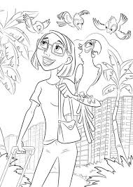 linda gunderson blu arrived rio brazil coloring pages