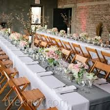 grey table runner wedding the couple wanted a soft classic look so they chose white