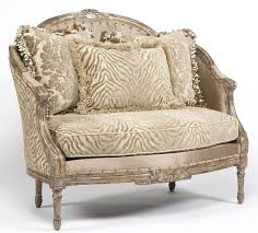 zebra chic settee luxury fine home furnishings and high quality