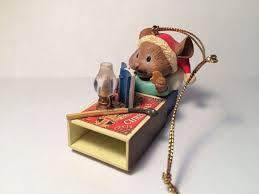 vintage 1992 lustre fame ltd mouse in matchbox bed