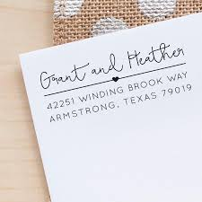 custom address stamp return address stamp personalized address