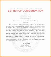 Letter Of Contribution Sample 9 Letter Of Commendation Sample Cover Title Page