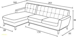 largeur canapé canape canape d angle dimension mesure impressionnant meilleures