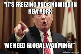 Freezing Meme - it s freezing and snowing in new york we need global warming