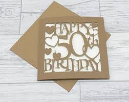 50th Birthday Cards For 50th Birthday Cards Etsy