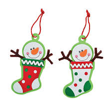 snowman stocking christmas ornament craft kit craft kits