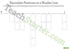 equivalent fractions on a number line lesson plan u2013 teach starter
