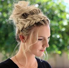 Messy Formal Hairstyles by How To Crown Braid Messy Bun Anniesforgetmeknots Pinterest