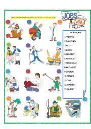 worksheet jobs match part 1