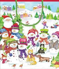 caspari gift bags caspari gift bag snow friends multi colour top